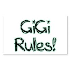 GiGi Rules! Rectangle Decal