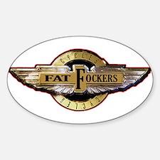 Fat Fockers Wings Sticker (Oval)
