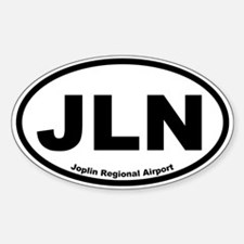 Joplin Regional Airport Oval Decal