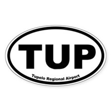 Tupelo Regional Airport Oval Decal