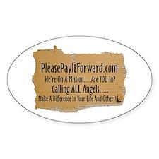 PleasePayItForward.com Oval Bumper Stickers