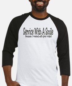 Service With A Smile (because Baseball Jersey