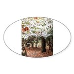 Enchanted Forest Oval Sticker