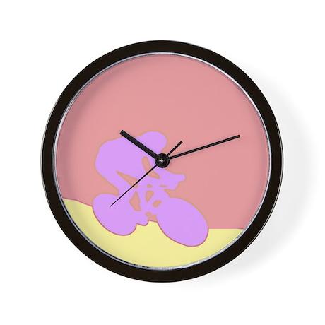 PURPLE GLOW CYCLIST Wall Clock