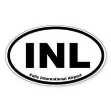 Falls International Airport Oval Decal