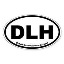Duluth International Airport Oval Decal