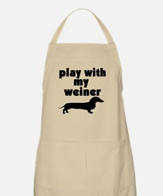 PLAY WITh MY WEINER BBQ Apron