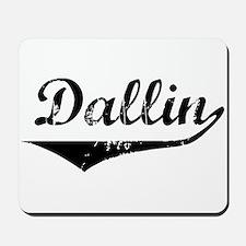 Dallin Vintage (Black) Mousepad
