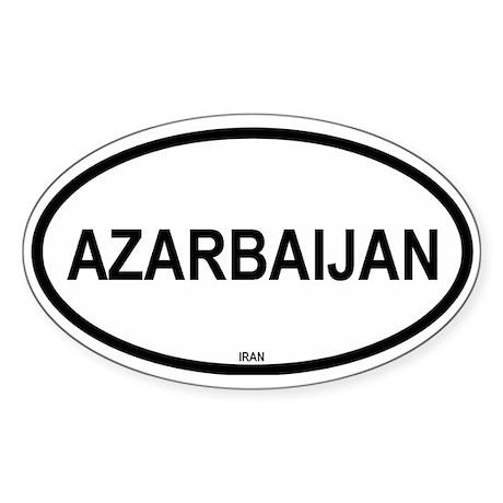 Azarbaijan Oval Sticker