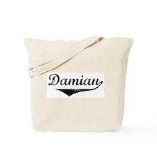 Damian Vintage (Black) Tote Bag