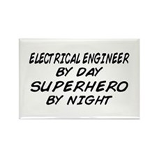 EE by Day Superhero by Night Rectangle Magnet