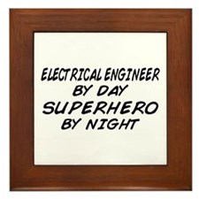 EE by Day Superhero by Night Framed Tile