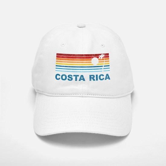 Retro Costa Rica Palm Tree Baseball Baseball Cap