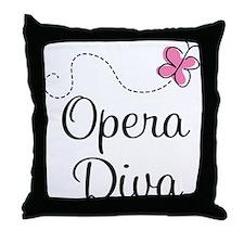 Cute Opera Diva Throw Pillow
