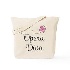 Cute Opera Diva Tote Bag