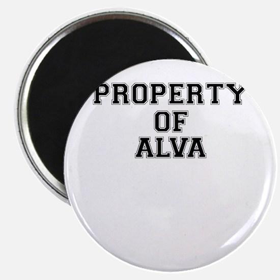 Property of ALVA Magnets