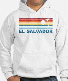 Retro El Salvador Palm Tree Hoodie