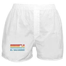 Retro El Salvador Palm Tree Boxer Shorts