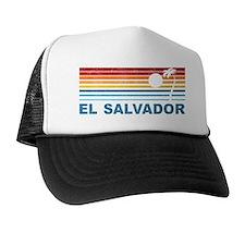 Retro El Salvador Palm Tree Trucker Hat