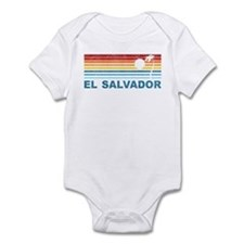 Retro El Salvador Palm Tree Infant Bodysuit