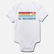 Retro El Salvador Palm Tree Infant Bodysuit