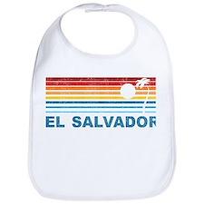 Retro El Salvador Palm Tree Bib