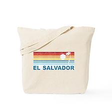 Retro El Salvador Palm Tree Tote Bag