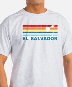 Retro El Salvador Palm Tree T-Shirt