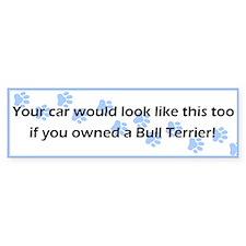 Your Car Bull Terrier Bumper Car Sticker
