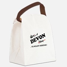 DEVON thing, you wouldn't underst Canvas Lunch Bag