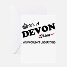 DEVON thing, you wouldn't understan Greeting Cards
