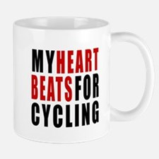 My Hear Beats For Cycling Mug
