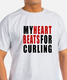 My Hear Beats For Curling T-Shirt
