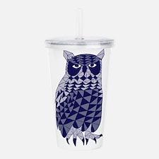Blue Owl Acrylic Double-wall Tumbler