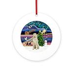 Xmas Magic & Spinone Ornament (Round)