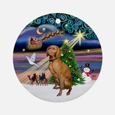 Xmas Magic & Vizsla Ornament (Round)