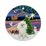 Xmas Magic & Poodle (w) Ornament (Round)