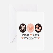 Peace Love Pharmacy Pharmacist Greeting Card