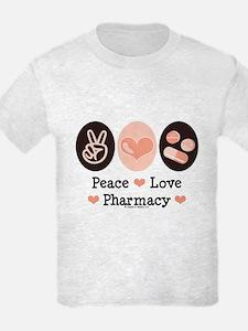 Peace Love Pharmacy Pharmacist T-Shirt