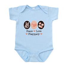 Peace Love Pharmacy Pharmacist Infant Bodysuit