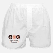 Peace Love Pharmacy Pharmacist Boxer Shorts