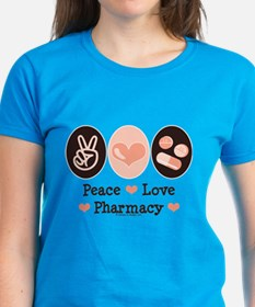 Peace Love Pharmacy Pharmacist Tee