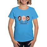 Peace Love Pharmacy Pharmacist Women's Dark T-Shir