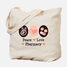 Peace Love Pharmacy Pharmacist Tote Bag