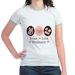 Peace Love Pharmacy Pharmacist Jr. Ringer T-Shirt