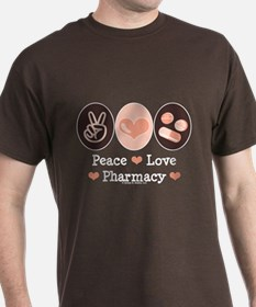 Peace Love Pharmacy Pharmacist T-Shirt