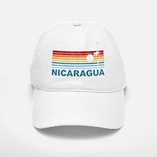 Retro Nicaragua Palm Tree Baseball Baseball Cap