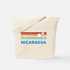 Retro Nicaragua Palm Tree Tote Bag