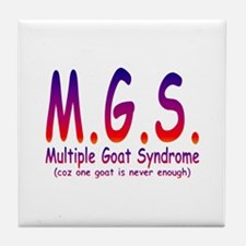 Multiple Goat Syndrome Tile Coaster