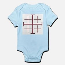 Red Jerusalem Cross Infant Creeper